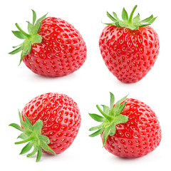 Strawberry. Fresh berry isolated on white background. Collection. © Tim UR