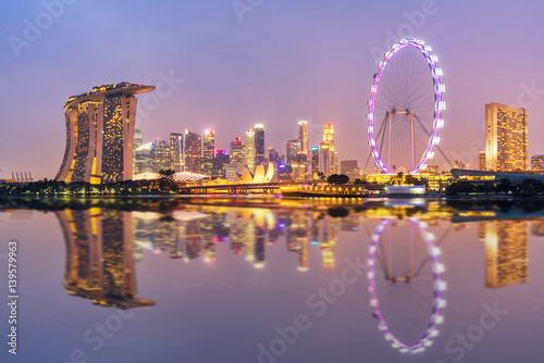 Obraz na plátne Singapore Skyline