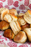 homemade scones on the basket