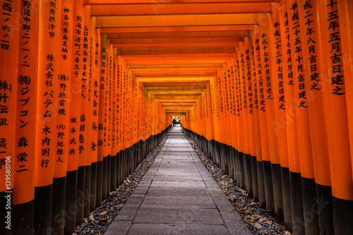 Fushimi Inari Shrine in Kyoto, Japan Poster