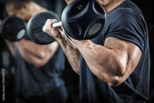 Bodybuilder in training