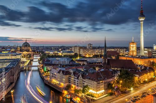 Poster Berlin bei Nacht