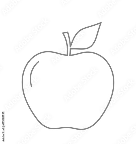 Apple line shape - 139602759