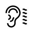 Ear mini line, icon