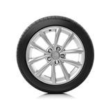 Car wheel on white background. - 139629935