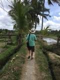 Treking through Bali Rice Fields