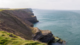 Yorkshire coast at Filey Brigg, North Yorkshire, UK