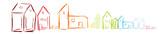 Haus Häuser Band Banner Bunt Farbig