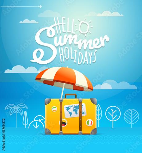 Travel bag vector illustration. Vacation concept