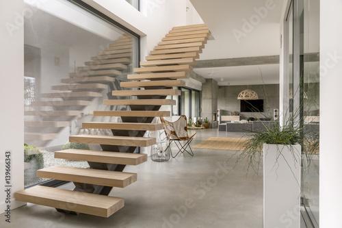 Stairs in modern villa - 139666343