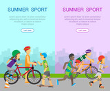 Two Summer Sport Banners