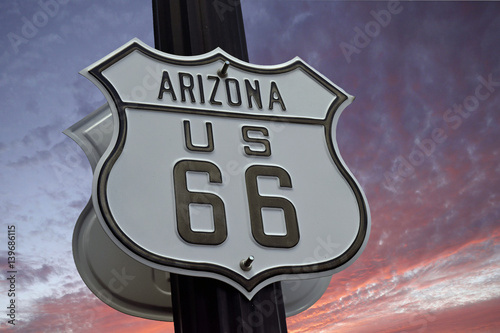 Poster Route 66 sign , Arizona