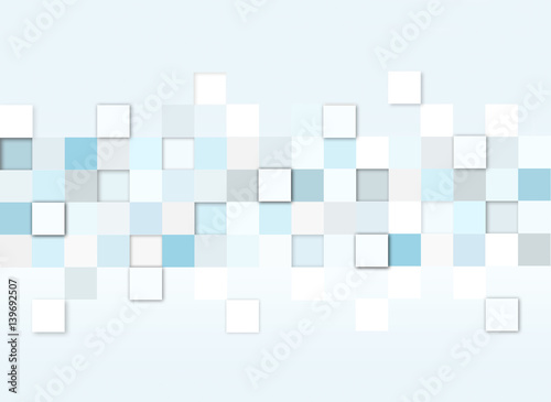 Fototapeta abstract texture background with squares, 3d illustration