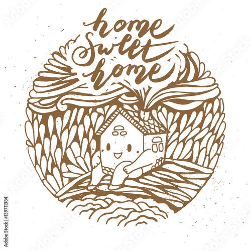 recznie-rysowane-kreskowka-dom