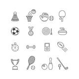 set of minimalistic sport icons - 139718764