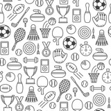 seamless pattern with sport design elements