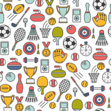 seamless pattern with sport design elements - 139718926