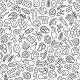 set of minimalistic healthy food icons - 139718979
