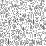 set of minimalistic healthy food icons - 139719114