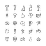 set of minimalistic healthy food icons - 139719127