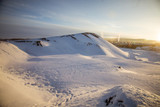 A beautiful landscape of a snowy Norwegian winter day