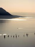 Afternoon sailing on Lac Leman (Lake Geneva) in Switzerland.