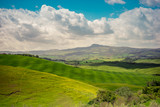 Green spring field. Tuscany, Italy