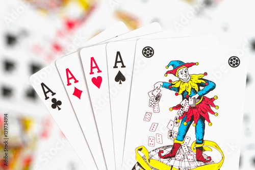Poster cards, aces and joker 1
