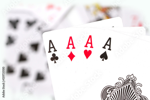 Plakat cards, aces and joker 3