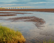 View of the Confederation Bridge from Prince Edward Island at low tide.