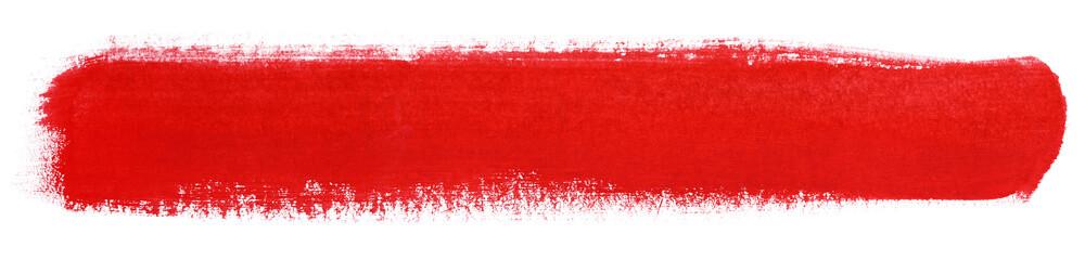 Red stroke of gouache paint brush © Roman Samokhin
