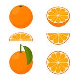 Fototapety Vector orange. A set of icons.