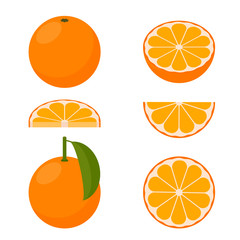 Vector orange. A set of icons.