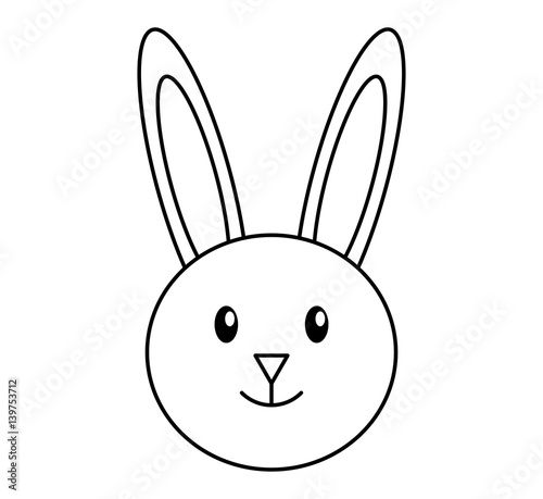 cute rabbit character icon vector illustration design - 139753712