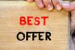 Best offer text concept