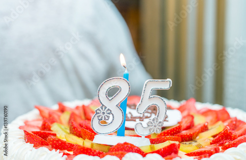 Poster 85th birthday cake