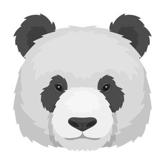 Panda icon in cartoon style isolated on white background. Realistic animals symbol stock vector illustration.