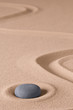 Zen meditation stone and sand garden. Symbol for relaxing spirituality harmony and purity. Spiritual background...