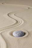 zen budhism meditation stone and sand. Paterns for relaxation and concentration...