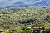 Farmland in the Rio Suarez canyon near Barichara, Colomiba.