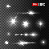 Stars shine light vector isolated icons - 139787115