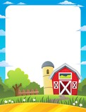 Frame with farmland theme 1