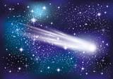Comet in space.