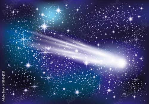 Comet in space. - 139804723