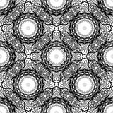 Seamless arabic black and white pattern