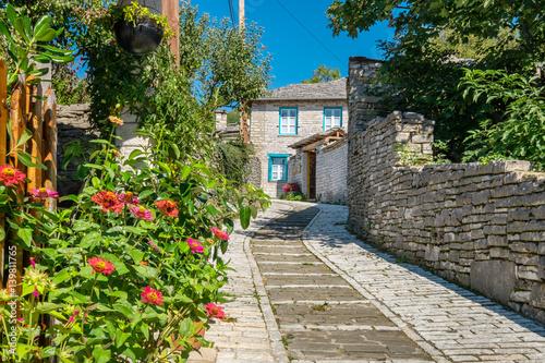 Street in village of Monodendri. Zagoria, Greece