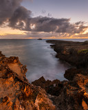 Sunrise at Laie Point on Oahu in Laie, Hawaii
