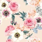 Seamless wedding flowers - 139839526