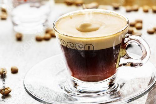 Poster Espresso mit Schaum