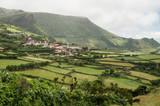 Scenic green landscape of Azorean island